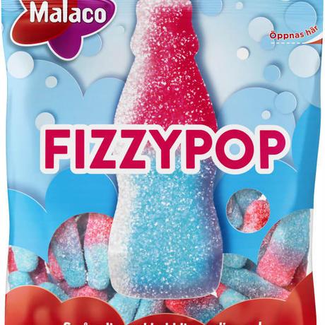Malaco マラコ Fizzy Pop フィジーポップサワー味ハードキャンディ 2袋 x 80g スウェーデンのお菓子です