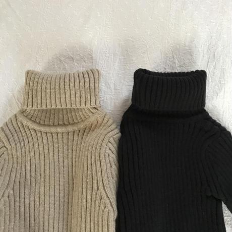 タートルネックセーター*light beige