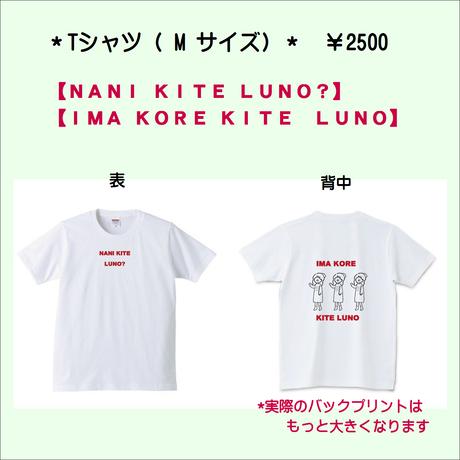 Tシャツ【IMA KORE KITE LUNO】M