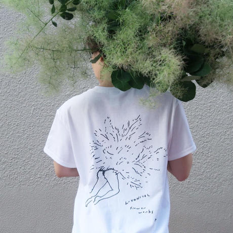 MURKOS×LUVONICAL flower works T-shirt size L
