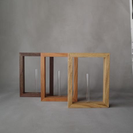 Wood frame base〔walnat color〕