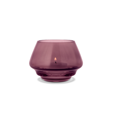 FLOW Tealight Holder Small Plum H7.5cm