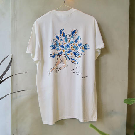 MURKOS×LUVONICAL flower works T-shirt size M
