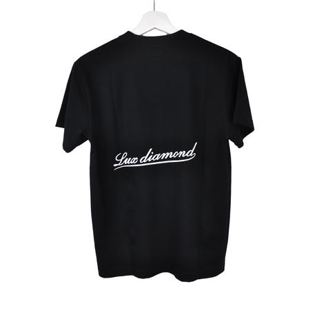 LUX DIAMOND T-SHIRT BLACK×WHITE