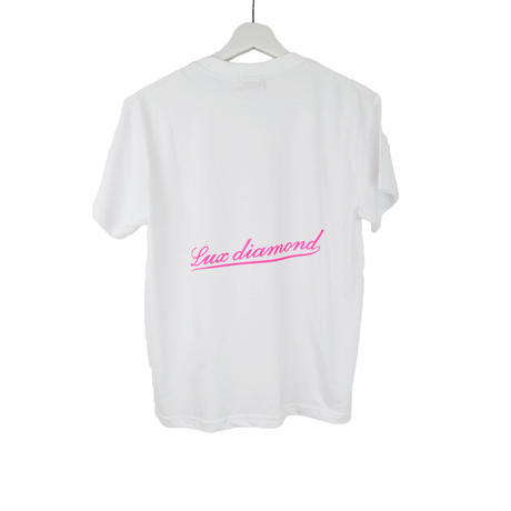 LUX DIAMOND T-SHIRT WHITE×PINK