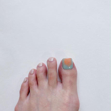 ONE DAY CHIP FOR FOOT/ ニュアンス[02グリーン]/きせかえ親指チップ [単品]