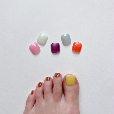 ONE DAY CHIP FOR FOOT/ ワンカラー[03 シアーイエロー]/きせかえ親指チップ [単品]