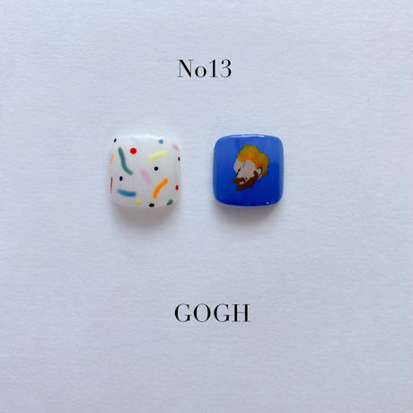 ONE DAY CHIP FOR FOOT /きせかえ親指アートチップ2枚セット・No.13 BLUE GOGH / ブルーゴッホ[FC-13]
