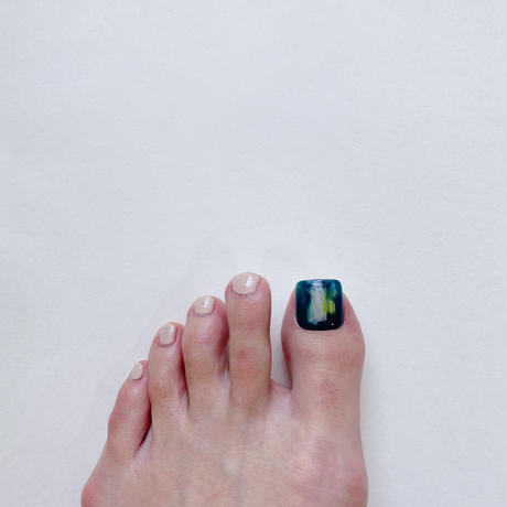 ONE DAY CHIP FOR FOOT/ ニュアンス[07ダークグリーン]/きせかえ親指チップ [単品]
