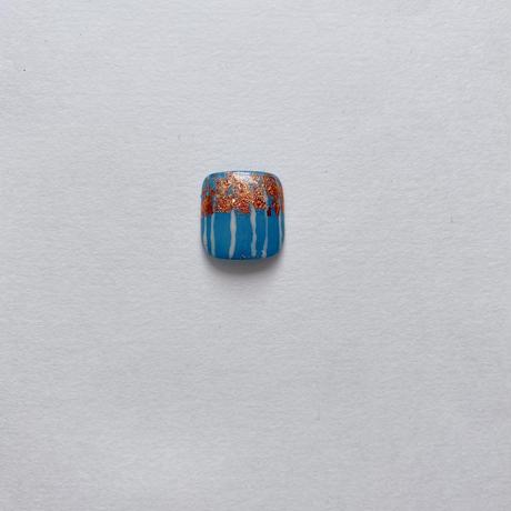 ONE DAY CHIP FOR FOOT/ ニュアンスフラワー[11 ブルー&ゴールド]/きせかえ親指チップ [単品]