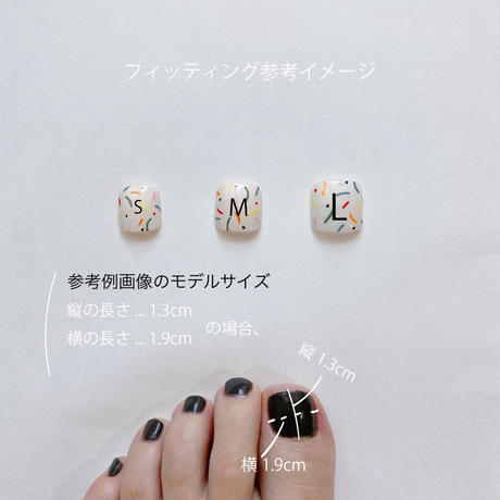 ONE DAY CHIP FOR FOOT /きせかえ親指アートチップ2枚セット・ No.5 FUNY / ファニー[FC-05]