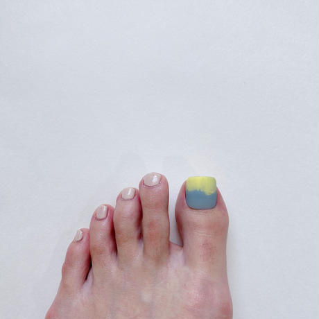 ONE DAY CHIP FOR FOOT/ ニュアンス[05マットグレーイエロー]/きせかえ親指チップ [単品]