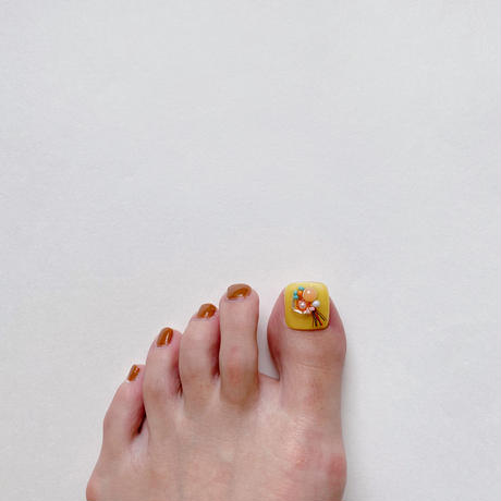 ONE DAY CHIP FOR FOOT/  ポップビーズビジュー[02 イエロー]/きせかえ親指チップ [単品]