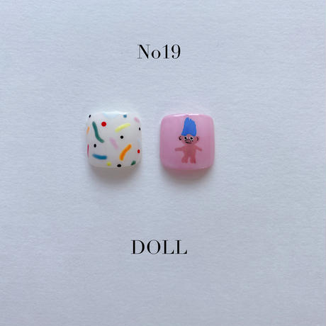 ONE DAY CHIP FOR FOOT /きせかえ親指アートチップ2枚セット・No.19 DOLL / ドール[FC-19]