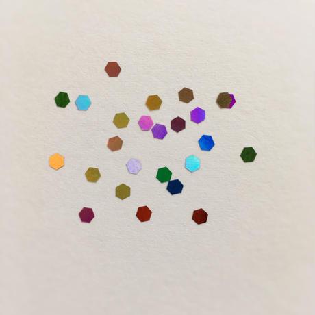 """ホログラム """"80'sミラーボールl Mix """" 3mm /  セレクト [AG-1112]"""