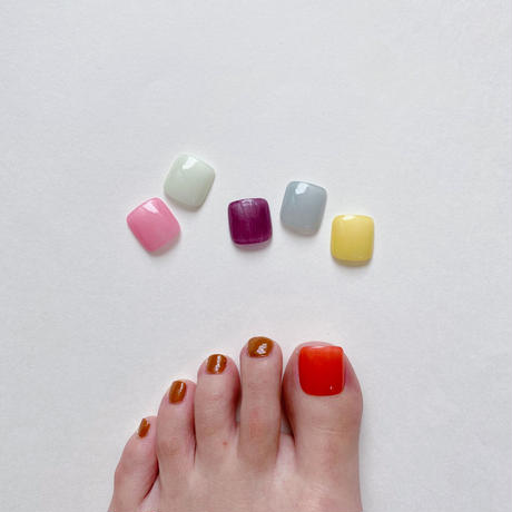 ONE DAY CHIP FOR FOOT/ ワンカラー[01 シアーオレンジ]/きせかえ親指チップ [単品]