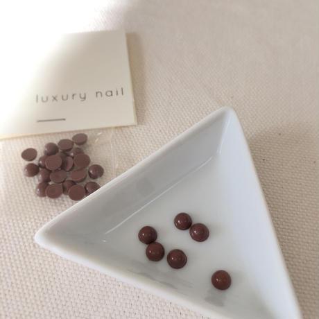 【ラスト1点】luxurynail セレクトパーツ /【 no.2 /ココア/5mm/20P[AG-2007]  】