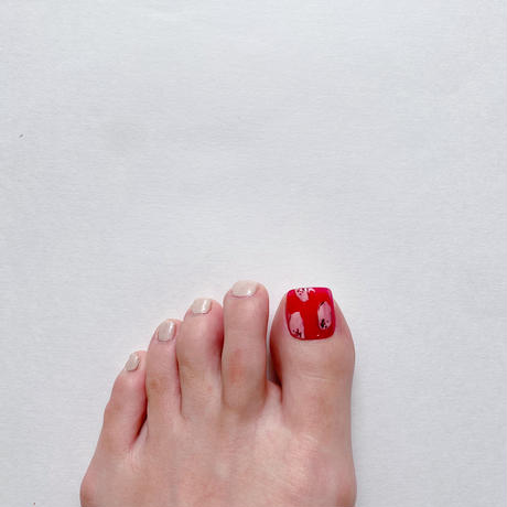 ONE DAY CHIP FOR FOOT/ ニュアンスフラワー[13 レッド]/きせかえ親指チップ [単品]