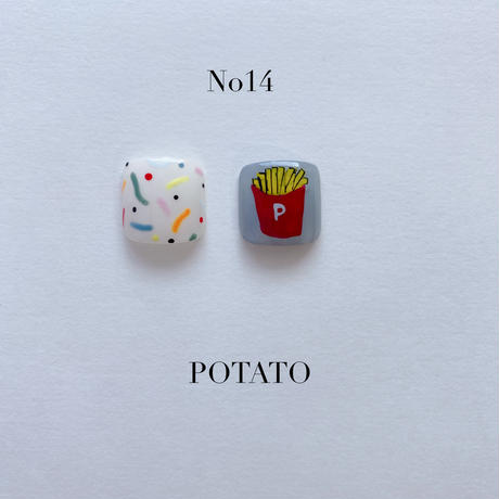 ONE DAY CHIP FOR FOOT /きせかえ親指アートチップ2枚セット・No.14 POTATO / ポテト[FC-14]