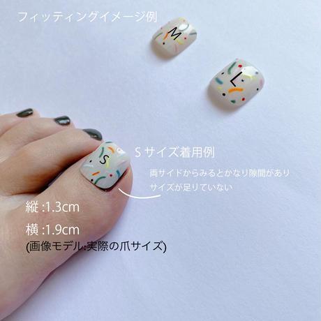 "ONE DAY CHIP FOR FOOT "" ICHIGO ICHIE ""/きせかえ親指アートチップ""イチゴイチエ"" [単品] /Sサイズ"
