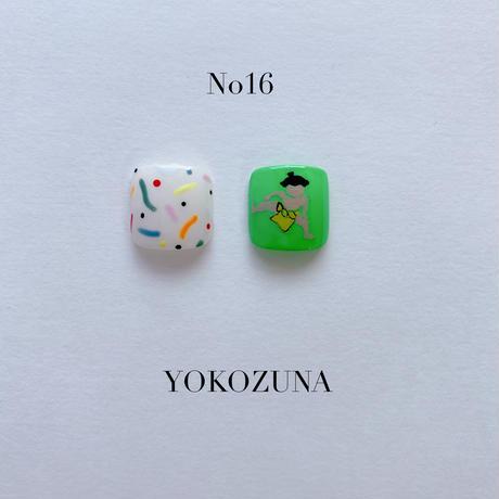 ONE DAY CHIP FOR FOOT /きせかえ親指アートチップ2枚セット・No.16 YOKOZUNA / ヨコズナ[FC-16]