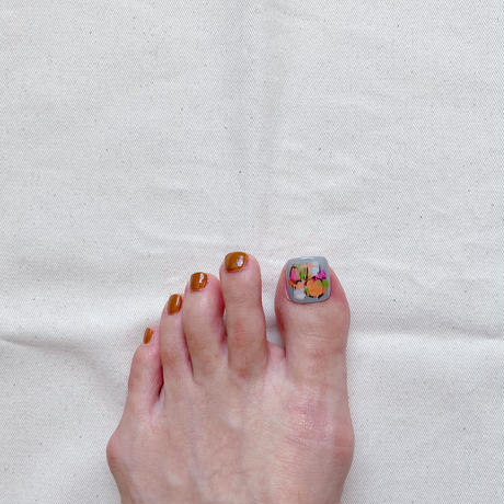 ONE DAY CHIP FOR FOOT/  ペイントアート[05 グレー]/きせかえ親指チップ [単品]