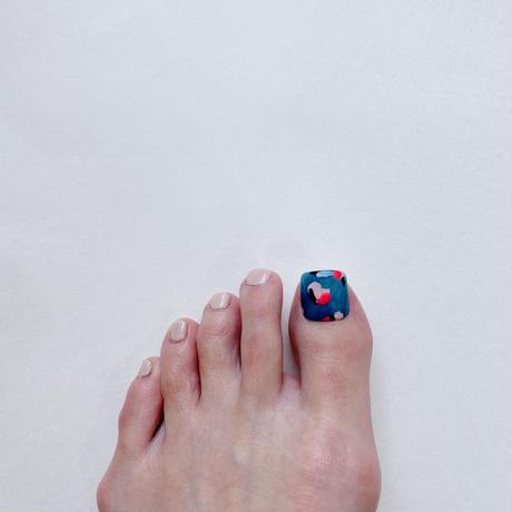 ONE DAY CHIP FOR FOOT/ ニュアンスフラワー[08ブルーフラワー]/きせかえ親指チップ [単品]