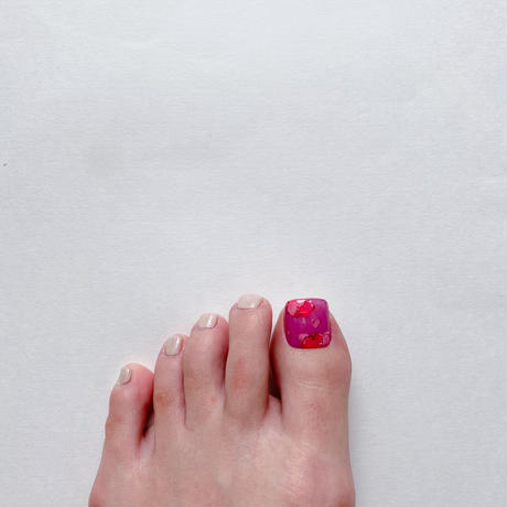 ONE DAY CHIP FOR FOOT/ ニュアンスフラワー[09パープルピンク]/きせかえ親指チップ [単品]
