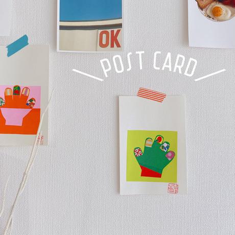 インテリアに可愛い☆ポストカード・ハンドネイルモチーフ/①〜④【O-0001】