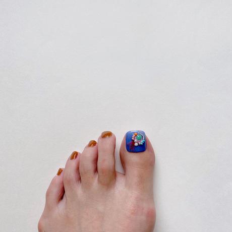 ONE DAY CHIP FOR FOOT/  ポップビーズビジュー[03 ブルー]/きせかえ親指チップ [単品]