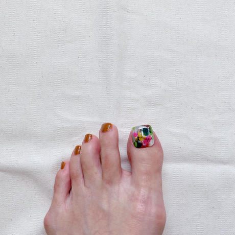 ONE DAY CHIP FOR FOOT/  ペイントアート[06 グリーン]/きせかえ親指チップ [単品]