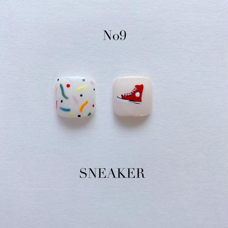 ONE DAY CHIP FOR FOOT /きせかえ親指アートチップ2枚セット・No.9 SNEAKER / スニーカー[FC-09]