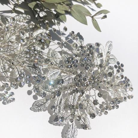 mat silver twin head dress
