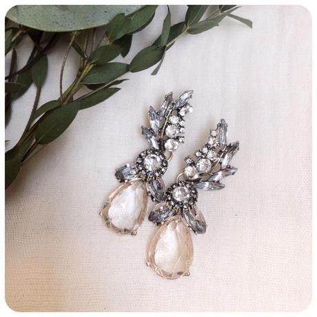 leaf bijou  pierce&earring