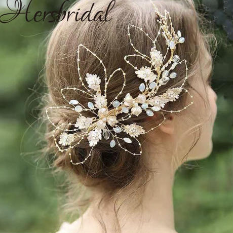 elegant flower head dress