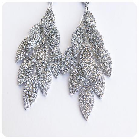 elegant leaf  pierce&earring