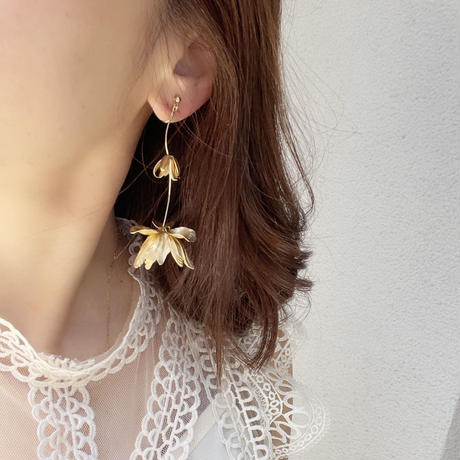 fuchsia pierce&earring