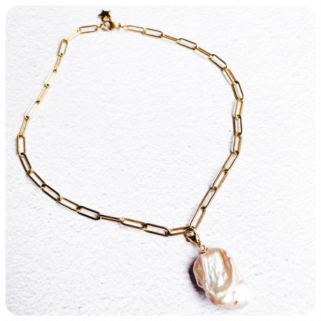 4way chain pearl necklace