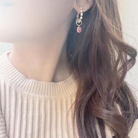 2way jewel stone pirece&earring