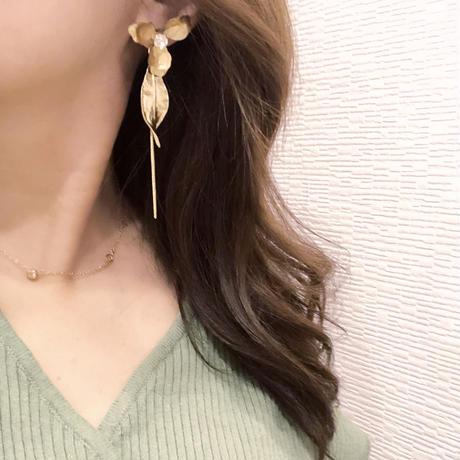 antique flower pirece&earring