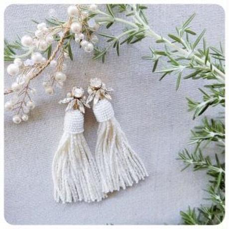 bijou beads tassel pierce&e arring