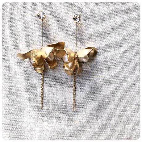 drop flower pierce&earring