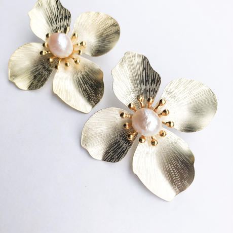 blooming flower pirece&earring