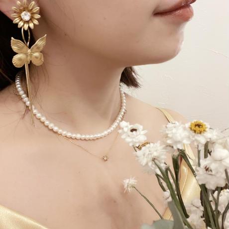 butterfly pierce&earring