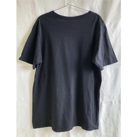 "【used】""galaxy dragon"" spacey T shirts  - L / black -  (OM-216-47)"