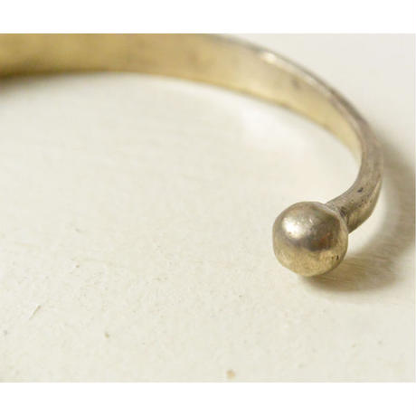 """【Restock !】""""African・Touareg(トゥアレグ族) Hand Made"""" Metal Bangle -Silver- (AS-18A)"""