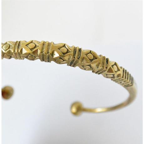 "【Restock !】""African・Touareg(トゥアレグ族) Hand Made"" Metal Bangle -gold-  (AS-19)"
