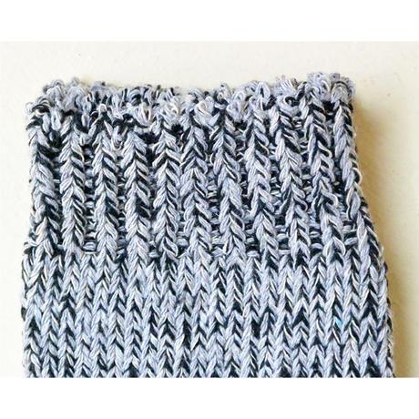 "【 h footwear / portugal made 】""chine"" cotton mix socks  -gray × black-  (imp-002)"