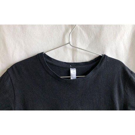 "【germany  vintage】""double finger"" art T-shirts  - lady's size / black-  (OM-216-49)"