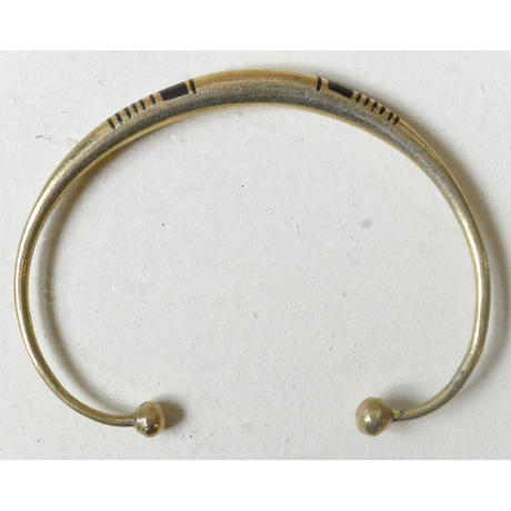 "【Restock !】""African・Touareg(トゥアレグ族) Hand Made"" Metal Bangle -gold- (AS-18B)"
